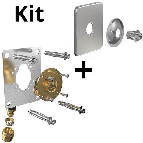 Kit ROBIFIX PER O16 - F 1/2 compression + cache inox mono