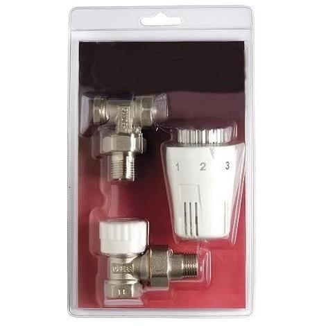 """main image of """"Kit robinet thermostatique équerre coudé 1/2 avec tête thermostatique"""""""