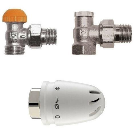 """Kit robinet thermostatique pour radiateur 1/2"""" Filetage de raccordement de 28 x 1,5"""