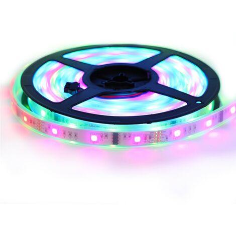 """Kit ruban LED 5050 """"6803 Magic LED """" - 5 Mètres RGB Étanche (IP67) avec contrôleur et transformateur"""
