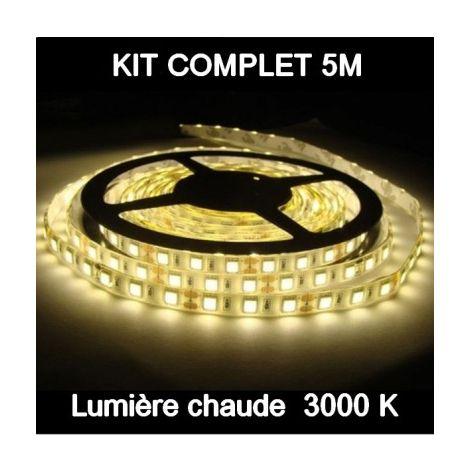 kit ruban led 5m 2700k etanche lst4209. Black Bedroom Furniture Sets. Home Design Ideas