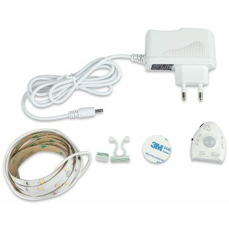 Kit Ruban LED (+driver) 1,2 Mètres 3w/m Ip20 Avec Détecteur