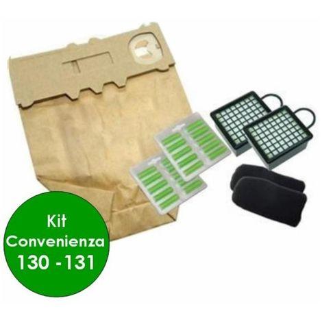 compatibile folletto vk 130 131 12 sacchetti in carta 20 prof kit filtri