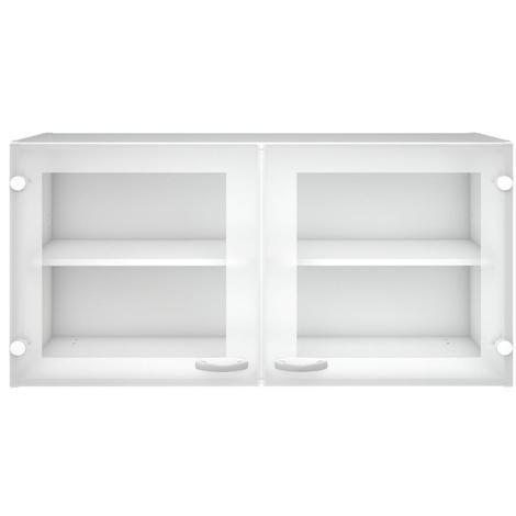 Kit Schrank Küche 2 Türen mit Glasschrank weiße Farbe Einrichtung 45518 49
