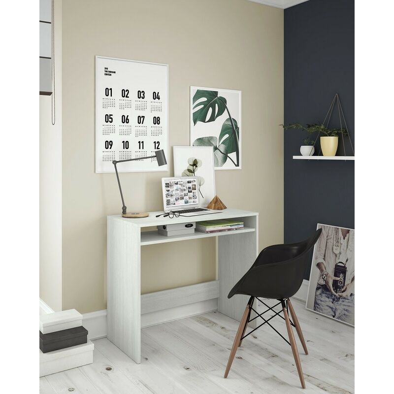 Kit scrivania star cm.79x43x78h bianco alpes - Salone - 97242