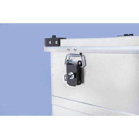 Kit serrure à cylindre pour caisse en aluminium - 2 serrures avec 2 clés - clés identiques