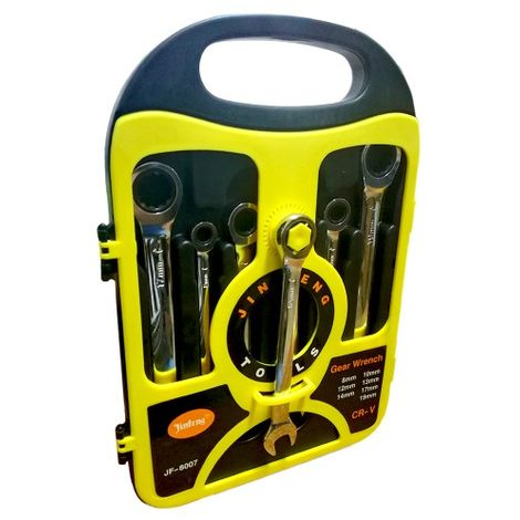 Kit Set Chiavi a Cricchetto 7 misure in acciaio con finitura lucida Gear Wrench