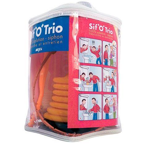 Kit siphons SIF'O'TRIO 18 pièces : fil cheveux - déboucheur - brosse - 183105 - Mejix