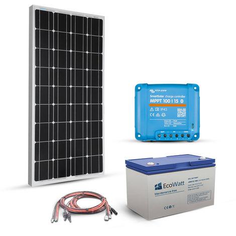 Kit Solaire 100w 12v autonome-stockage 600w-Victron Energy