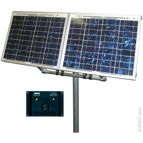Kit solaire 10W-24V Polycristallin + Kit de fixation + régulateur de charge