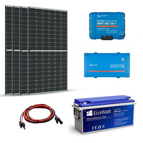 Kit solaire 1380W autonome 24V-230V 1200VA Stockage 4800wh - VICTRON ENERGY