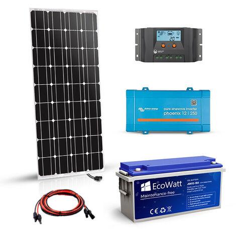 Kit solaire 180w autonome 12v-230v 375VA stockage 1200Wh - VICTRON ENERGY