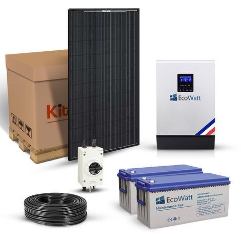 Kit solaire 1860w autonome hybride 24v-230v-stockage 4800wh