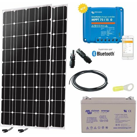 Kit solaire 2 x 115w autonome 12v monocristallin