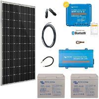 Kit solaire 300w autonome + convertisseur 230v/375va
