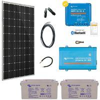 Kit solaire 300w premium autonome + convertisseur 230v/800va