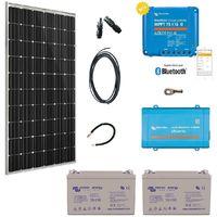 Kit solaire 300w premium plus autonome + convertisseur 230v/1200va