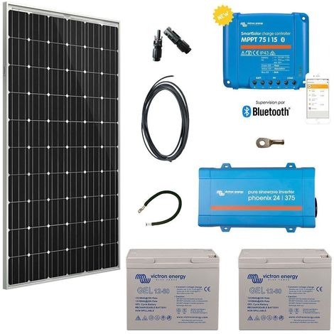 Kit solaire 305w autonome + convertisseur 230v/375va