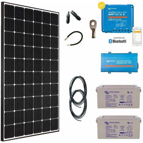 Kit solaire 355w autonome + convertisseur 230v/375va