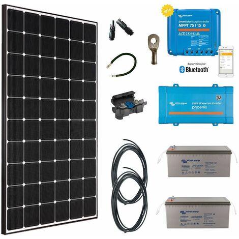 Kit solaire 355w premium autonome + convertisseur 230v/800va