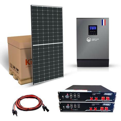 Kit solaire 4410w autonome hybride V PLUS 5.5KVA 48v-230v Stockage Batterie Lithium 4800wh