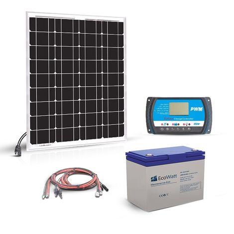 Kit solaire 50w 12v autonome-stockage batterie 288w