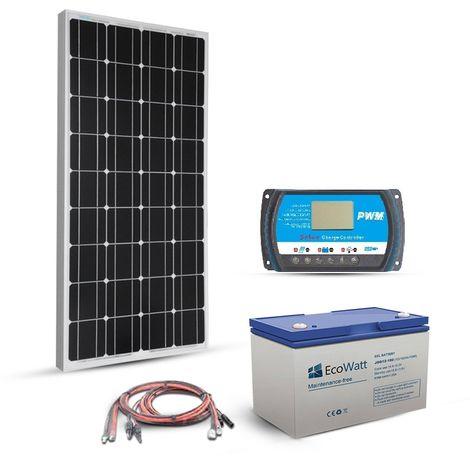 Kit solaire 80w 12v autonome-stockage batterie 288w