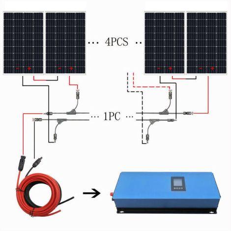 Kit solaire 960W 24V Grid Tie 8 pcs 120W Panneau solaire Onduleur solaire 1000W