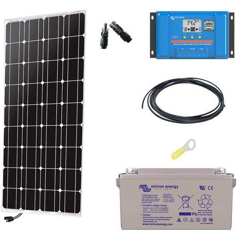 Kit solaire autonome 100w - 12v monocristallin