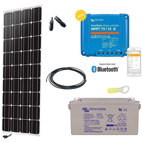 Kit solaire autonome 150w - 12v monocristallin