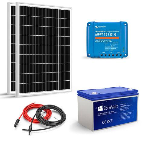 Kit Solaire Autonome 200W-12V - Stockage 1200W MPPT- Victron Energy