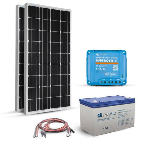 Kit Solaire Autonome 360W-12V - Stockage 1800W MPPT- Victron Energy