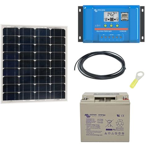 Kit solaire autonome 50w - 12v monocristallin