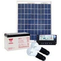 Kit solaire autonome d'éclairage pour 2 ampoules LED 3W