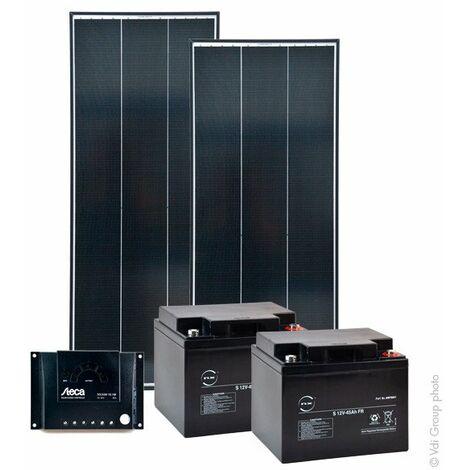 Kit Solaire Autonome M 24V 75Wc (520Wh/jour maxi)