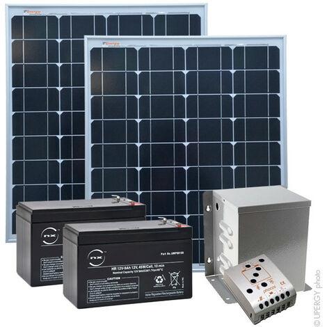 Kit Solaire Autonome S 24V 100Wc (200Wh/jour maxi)