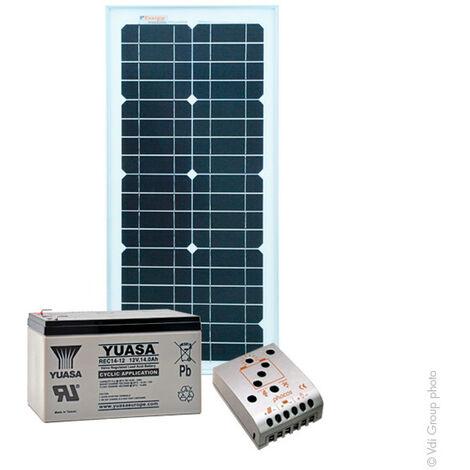Kit Solaire Autonome XS 12V 25Wc (100Wh/jour maxi)