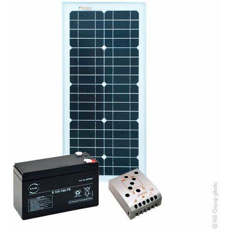 Kit Solaire Autonome XS 12V 25Wc (50Wh/jour maxi)