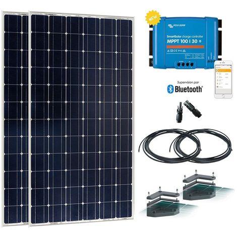 Kit solaire camping-car 380w-12 ou 24v avec fixation