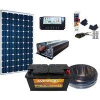 Kit solaire complet 12V 100W / 380Wh par jour