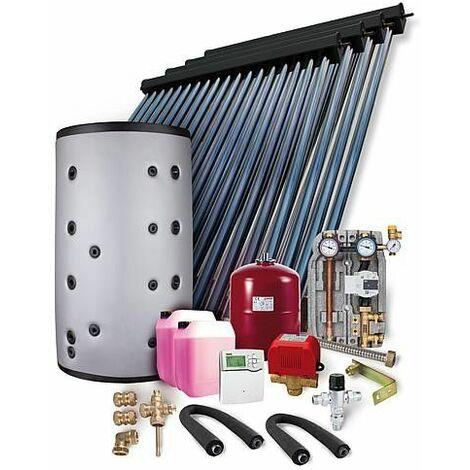 Kit solaire HP 22 montage sur toiture 14,44m2 +ballon combine 800L,2 echang chaleur