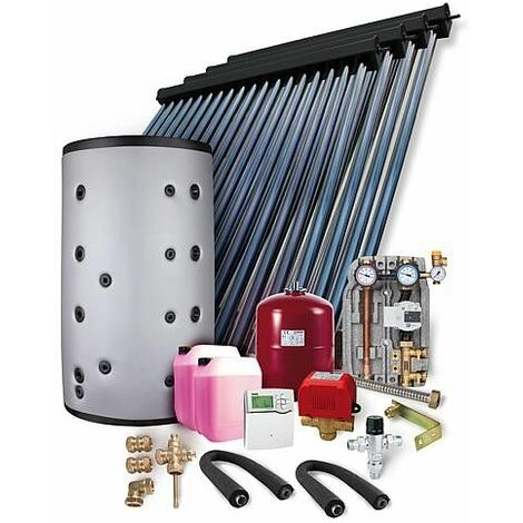 Kit solaire HP 22 montage sur toiture 14,44m2 sans reservoir