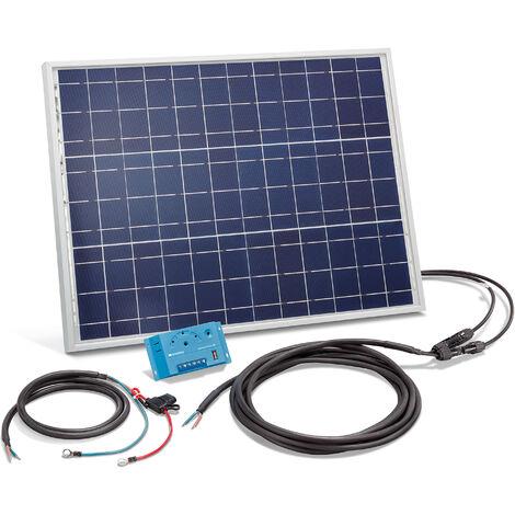 Kit solaire Kit 50W Système solaire 12 volts Système d'îlot de camping, esotec 120024