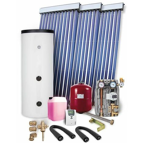 Kit solaire PR 2.09 montage sur toiture 10,25m2 avec reservoir solaire 500L