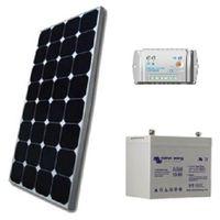 Kit solaire SITE ISOLE 100Wc - 12V (Capacité Batterie : Kit avec 1 batterie AGM 60 Ah)