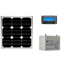Kit solaire SITE ISOLE 30 Wc - 12V (Capacité Batterie : Kit avec 1 batterie AGM 22 Ah)