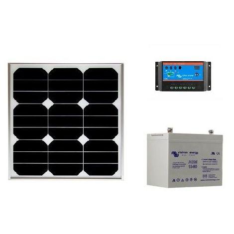 Kit solaire SITE ISOLE 30 Wc - 12V (Capacité Batterie : Kit avec 1 batterie AGM 38 Ah)