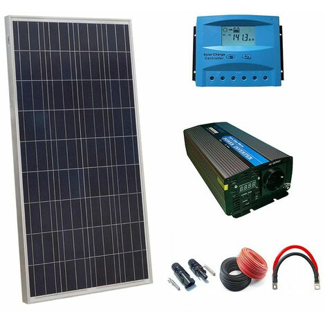 Kit Solar 12v 150w Hora Inversor 1000w