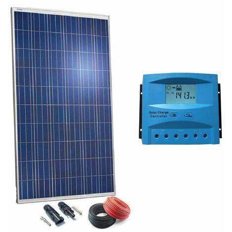 Kit Solar 24v 250w Hora Regulador 20a con LCD