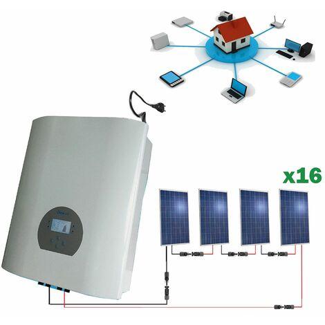 Kit solar 4000wh Autoconsumo Inyección a RED